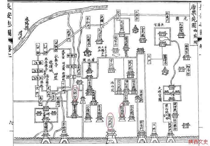 唐大安宫手绘图
